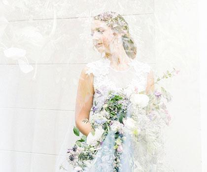婚纱摄影薰衣草和蓝色搭配的灵感