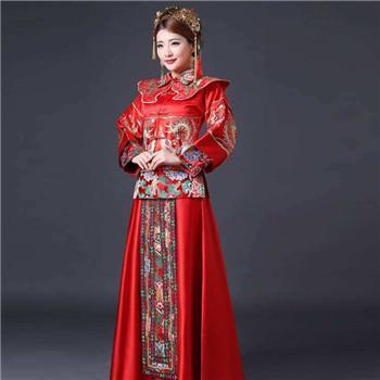 中式婚礼简单款新娘礼服介绍