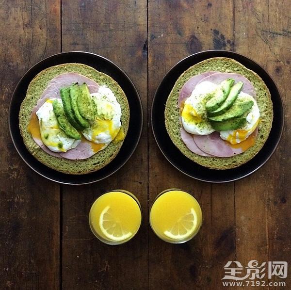 拍摄美味的对称早餐 用摄影治好你的强迫症
