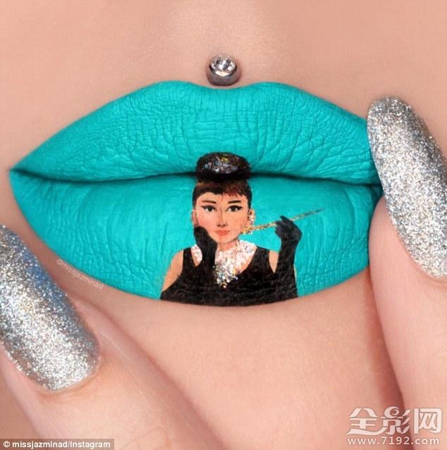 惊艳!澳化妆师嘴唇绘制碧昂斯怀孕画像