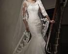 点缀的婚纱