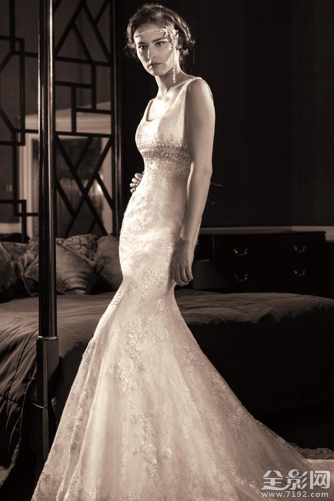各个形状的婚纱