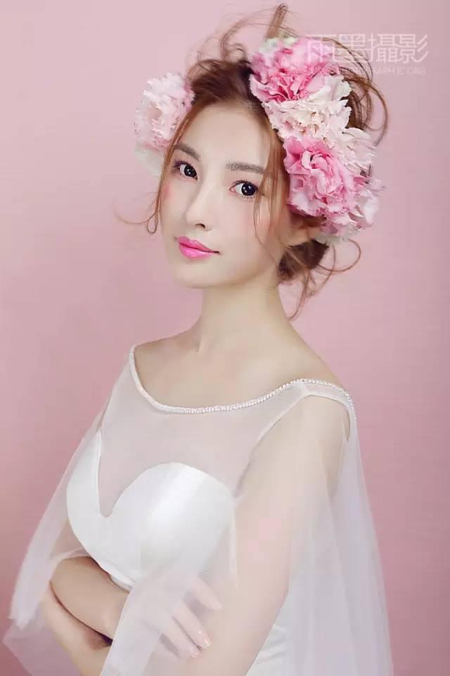 秋季甜美的新娘造型,太仙了!