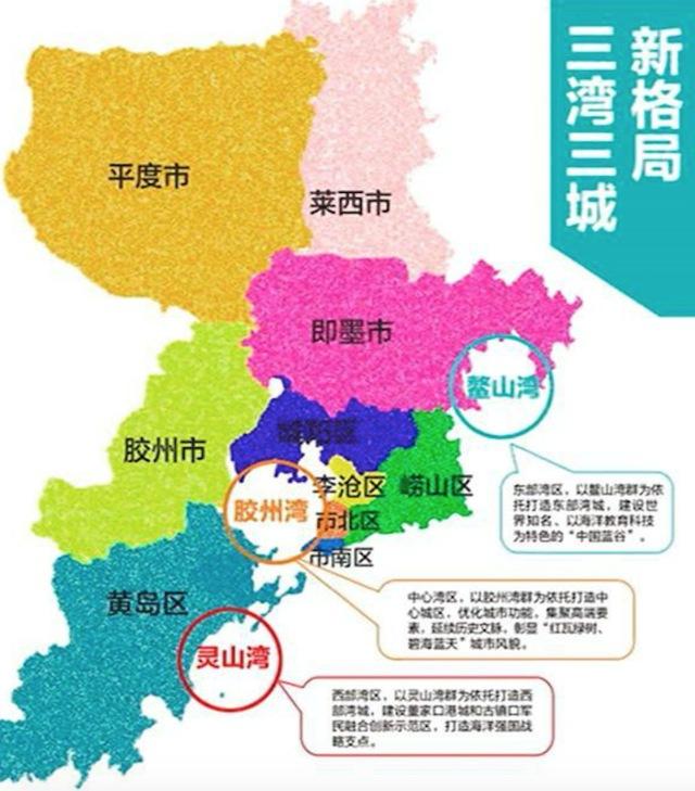 本次区划调整后,青岛市行政区划将由6区4市变为7区3市.