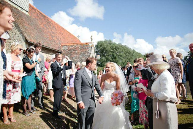 漂亮的粉红色的九月的婚礼