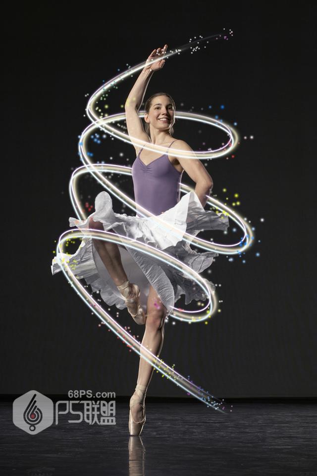 鬼工老师Photoshop给舞蹈人像照片添加缠绕光线效果鬼工山庄