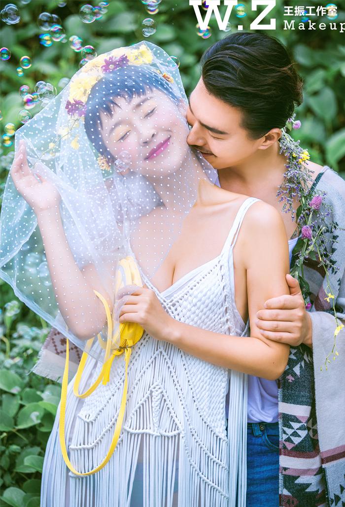 短发新娘造型妆容欣赏