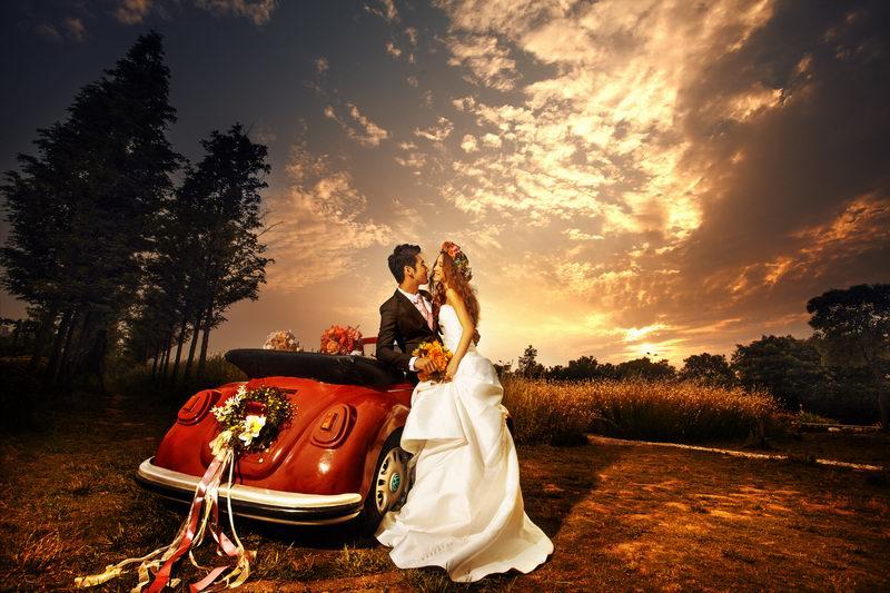 婚纱照拍的_婚纱照街拍风格