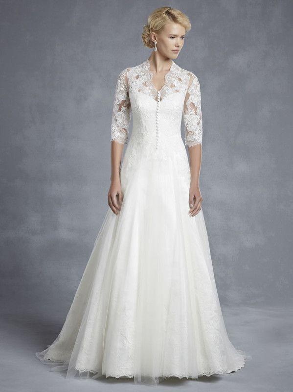 简单的婚礼礼服的非正式仪式