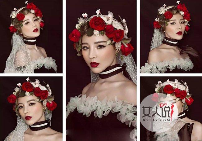新娘优乐娱乐手机版照创意妆容造型 浪漫吸晴仙女造型令你一生无悔