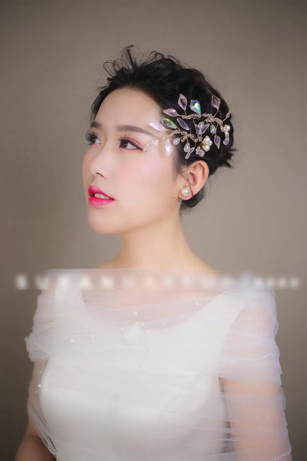 新娘造型|气质优雅仙美新娘,粉甜的妆容,温柔浪漫