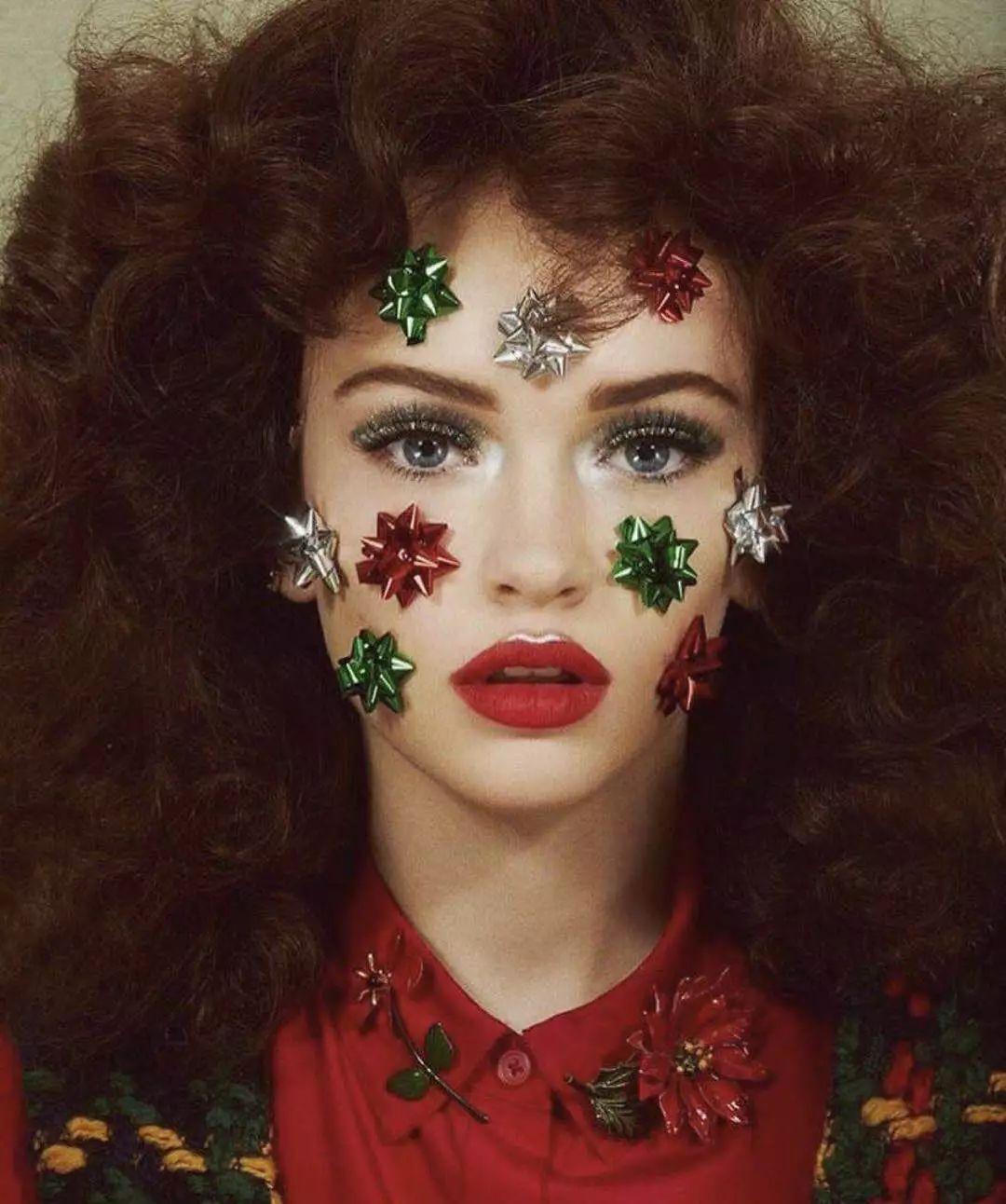 圣诞节妆容走起