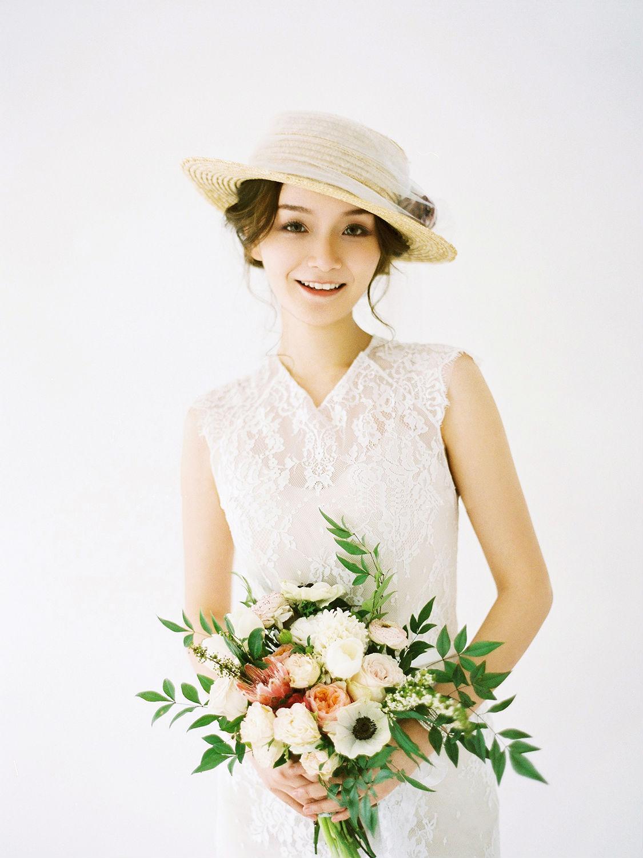 新娘造型|小清新新娘妆容,洁白仙美