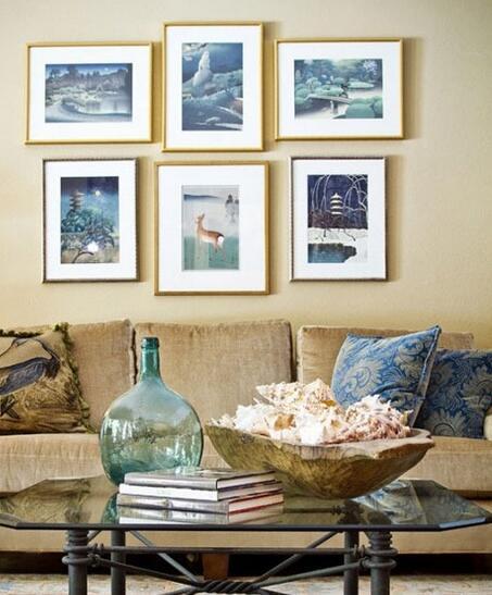 极具文艺气息的地毯和沙发,搭配上地中海风格让传统多了不同的色彩