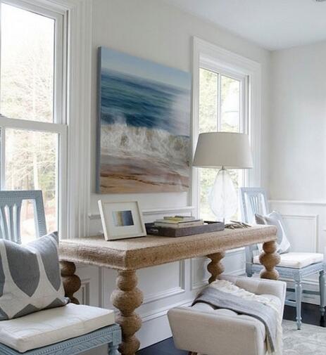 雅致色调下的地中海风格客厅角落设计