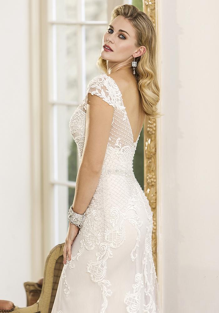 迷人的新袍从真正的新娘