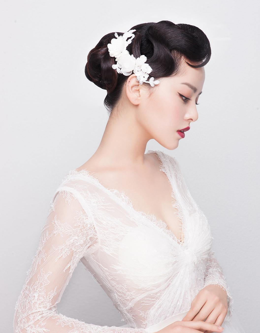 新娘造型|气质新娘复古风造型