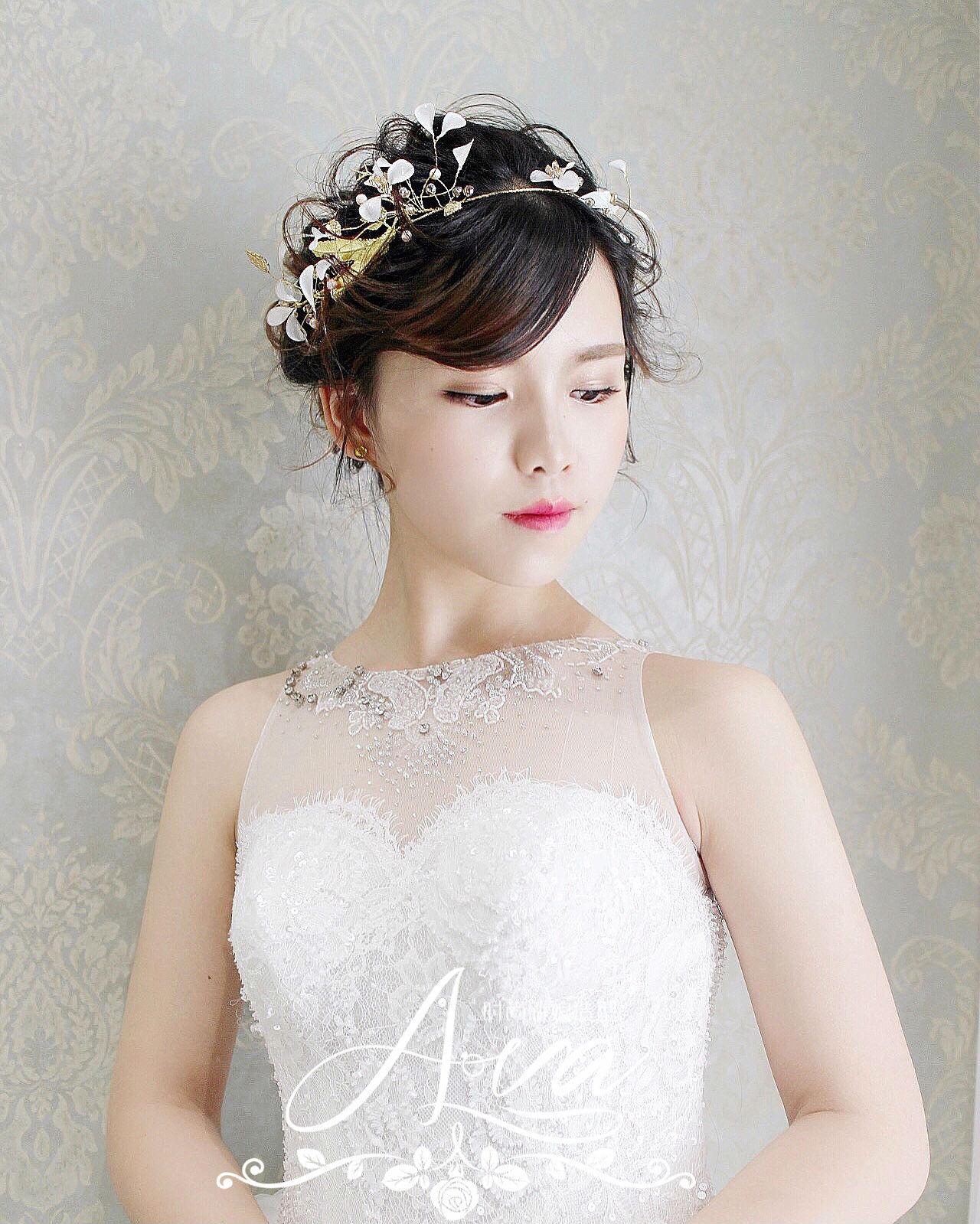 新娘造型|甜美优雅的盘发