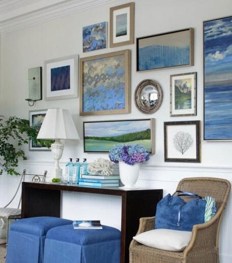 装饰画的风格能给整个客厅带来很大的影响,因此任何风格都必须先将艺术画搞定