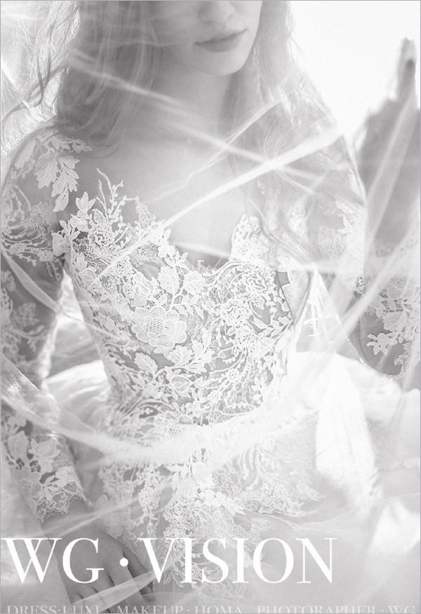 新娘造型欣赏 冬季纯色微光系列