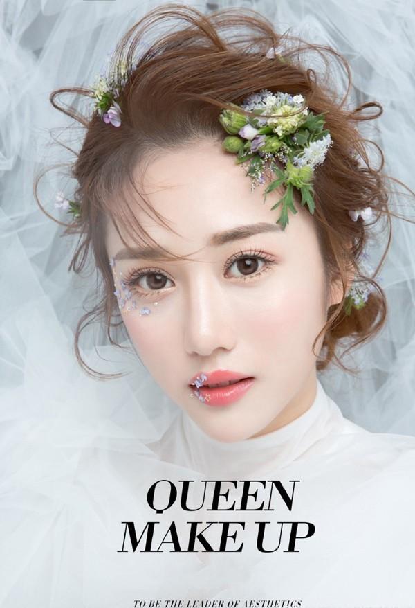 浪漫风情的韩式新娘盘发