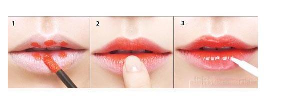 最美唇妆的画法,不仅好看而且让你一整天不掉色