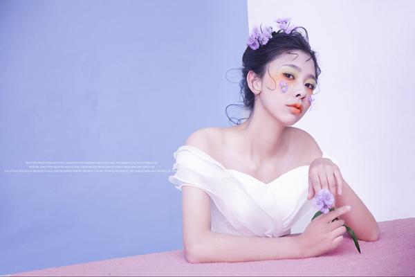 最美新娘贴面妆,浪漫发丝,展现别样柔情