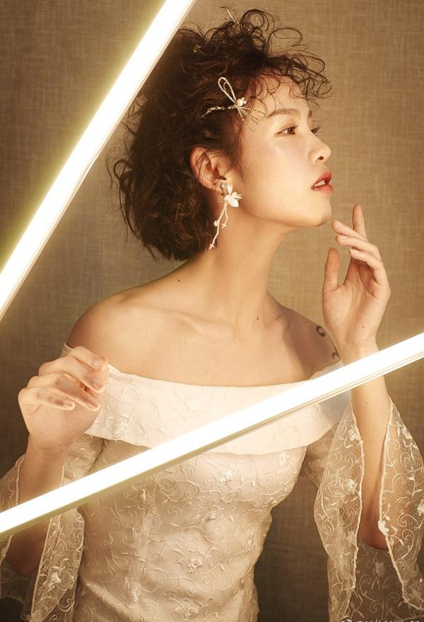 时尚短发新娘,甜美清爽,演绎别样浪漫风情