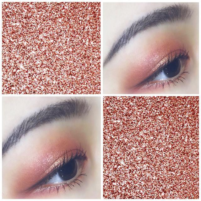 一分钟眼妆,bling bling橘色眼妆教程