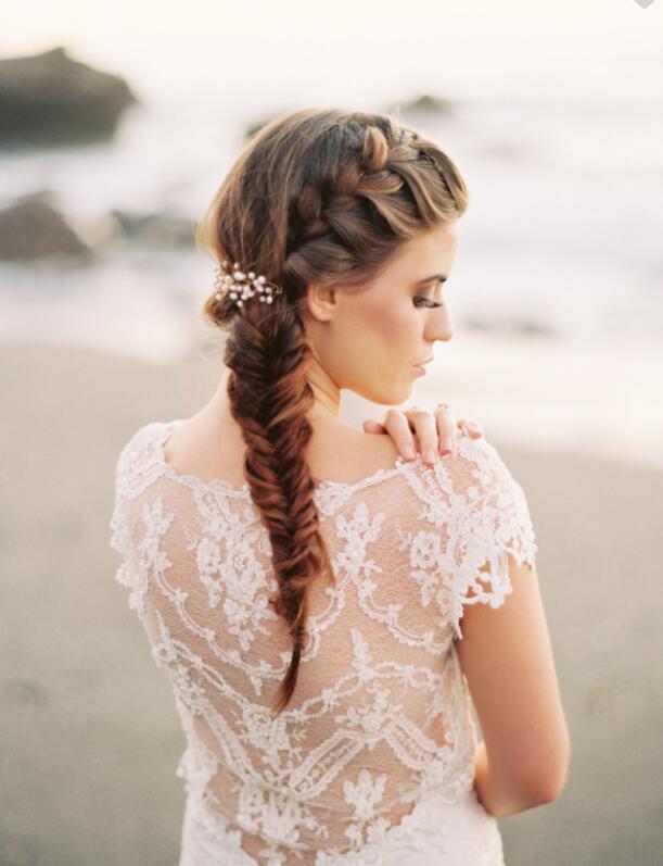 化妆技巧 日系新娘编发造型图片 给你一个浪漫的森系婚礼
