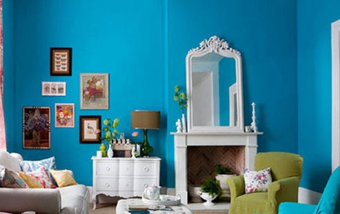 蓝色的壁纸