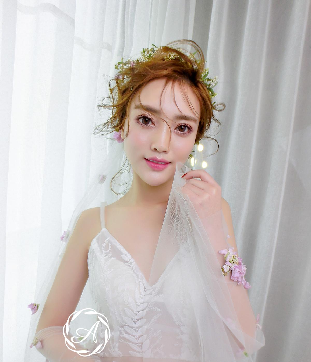 化妆技巧 新娘造型|春夏清新新娘,头纱,盘发,贴面妆,甜美又优雅图片