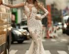 结婚礼服打造性感剪影