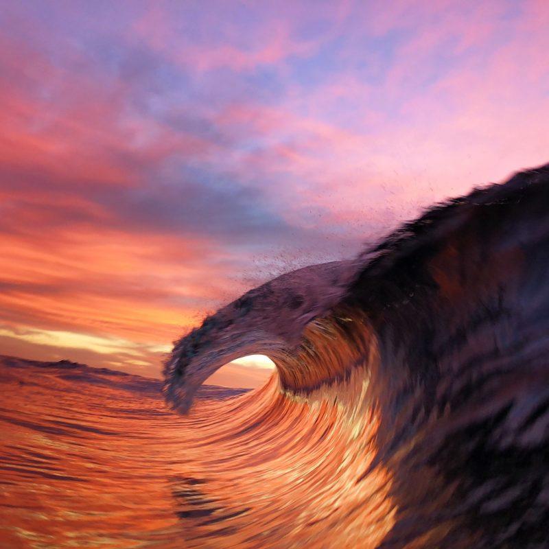 从海浪内部拍摄海浪是什么样子呢?超震撼!