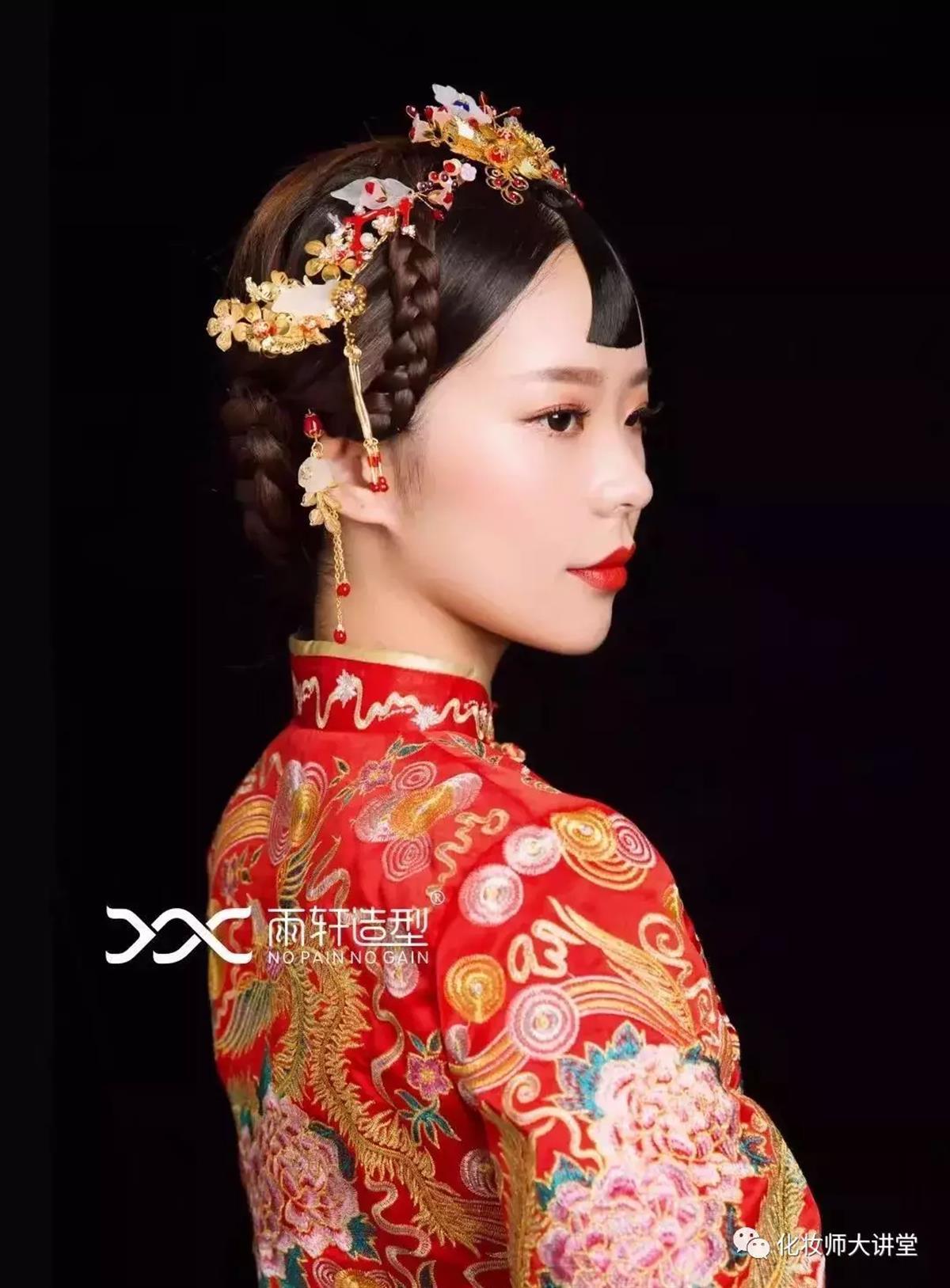 2018经典中式新娘造型,化妆造型师收藏好!图片