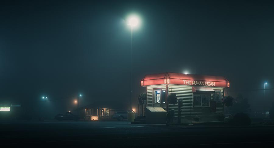 电影级小镇夜色