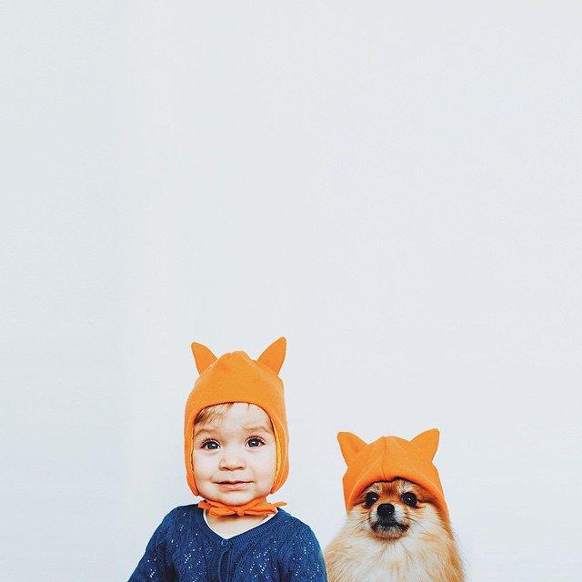 摄影技巧 另类情侣照:宝宝与宠物犬的甜蜜约会
