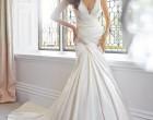 潍坊婚纱摄影新娘穿绸缎婚纱更显气质