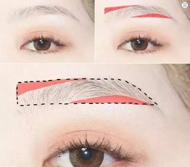超实用的眉毛画法~