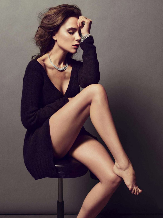 贝克汉姆夫妇《Vogue Paris》大片