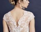 蕾丝刺绣婚纱的细节