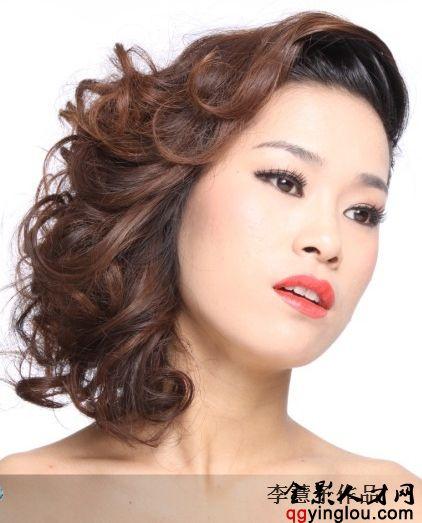 2016年晚礼短发发型图片
