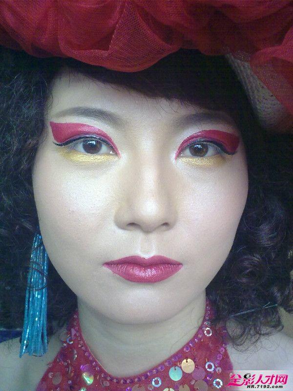 赵鑫的新娘妆,创意妆