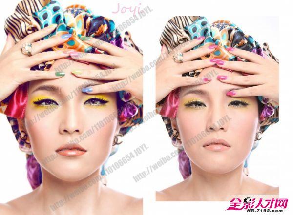 手绘彩妆妆面练习图