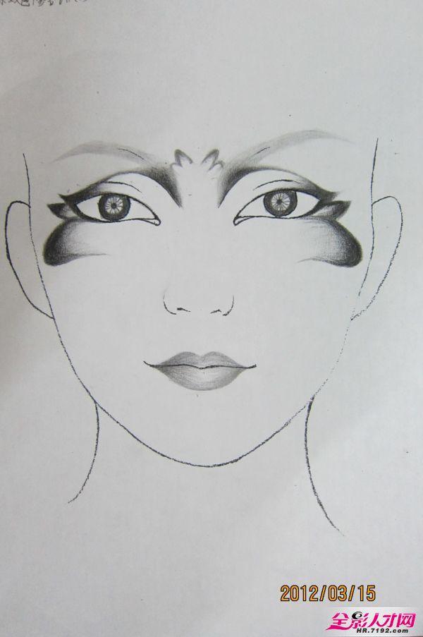 彩妆素描图步骤