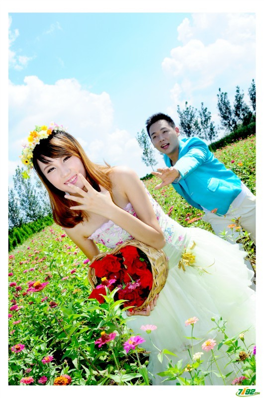 婚纱摄影山东济南花仙子摄影基地 高清图片