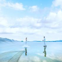 湖水一线天