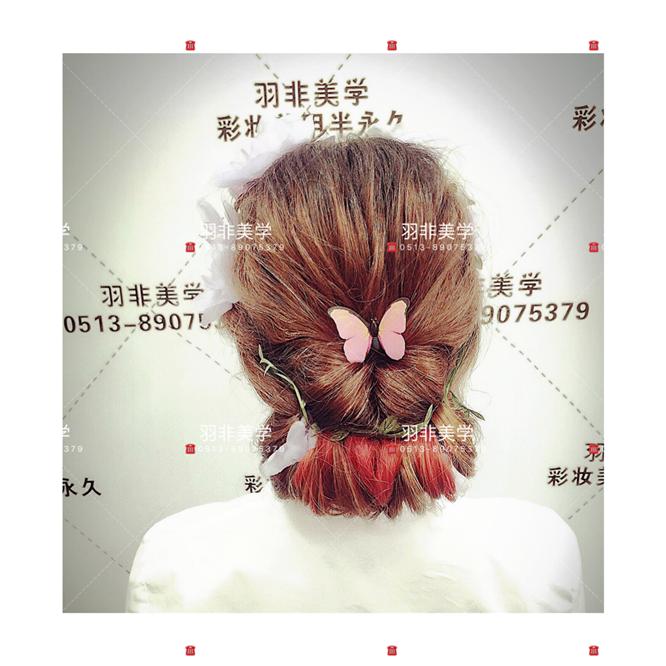 2017秋冬最流行的新娘编发#南通学化妆·彩妆培训