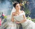 胸小的新娘婚纱照怎么拍更有曲线美