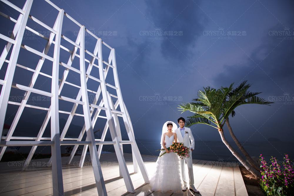青岛婚纱照夜景拍摄